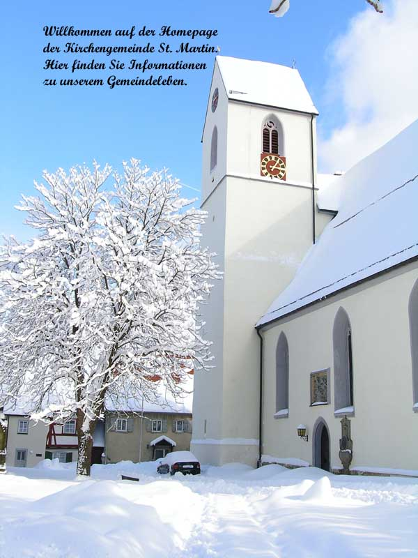 St. Martin Kirche Trochtelfingen im Winter