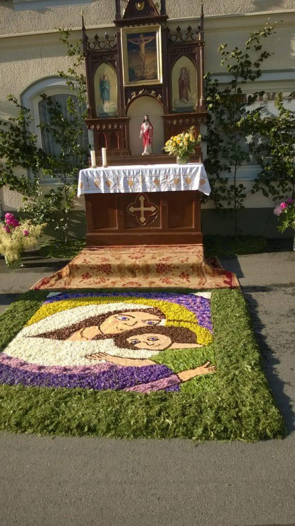 Blumenteppich der Bürgerwehrfrauen